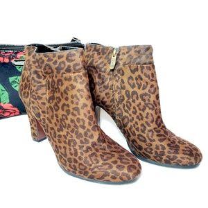 Ann Taylor LOFT leopard print booties, 8.5